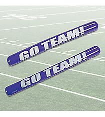 "12 Purple Inflatable ""Go Team!"" Noisemaker Sticks #49/315"