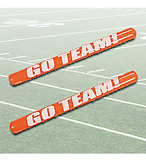 "12 Orange Inflatable ""Go Team!"" Noisemaker Sticks #49/316"