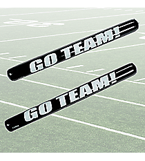 "12 Black Inflatable ""Go Team!"" Noisemaker Sticks #49/317"