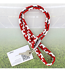 Crimson and White Pomchies PomLanyard #49299