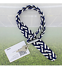 Navy and White Pomchies PomLanyard #49304