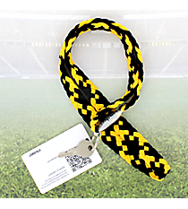 Black and Yellow Gold Pomchies PomLanyard #49308