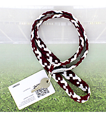 Burgundy and White Pomchies PomLanyard #49315