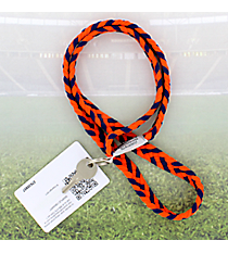 Orange and Navy Pomchies PomLanyard #49384