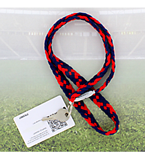 Navy and Red Pomchies PomLanyard #49390