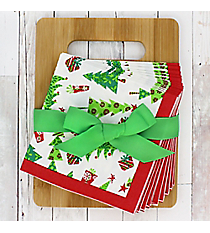 Season of Joy Bamboo Cutting Board & Napkins Gift Set #49964