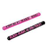 4 Sassy Pink Ribbon Inflatable Noisemaker Sticks #49/533