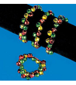 4 Multi-Color Jingle Bell Bracelets #4/2789