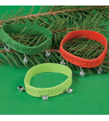 "One Dozen Rubber ""Jingle For Jesus"" Bracelets With Bells #4/3909"