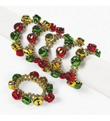 One Dozen Jingle Bell Beaded Bracelets #4/5147