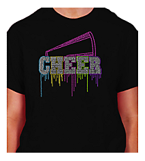 "Glittering ""Liquid Cheer"" Short Sleeve Relaxed Fit T-Shirt 9.25"" x 9.5"" Design 14968 *Choose Your Shirt Color"