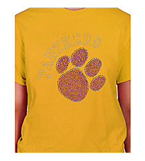 Purple Paw and Team Name Short Sleeve Relaxed Fit T-Shirt 14900 *Choose Your Team Name!