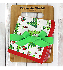 Season of Joy Luke 2:10 Bamboo Cutting Board & Napkins Gift Set #50069