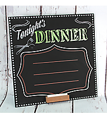 """Tonight's Dinner"" Fill-In Chalkboard Sign #50207"