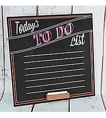 """Today's To Do List"" Fill-In Chalkboard Sign #50207"