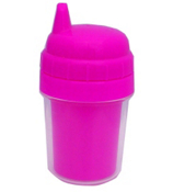 Blank Acrylic Spill-Proof Sippy Cup with Hot Pink Top #502H