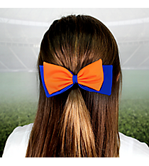 Orange and Royal Blue Pomchies PomBow #50396