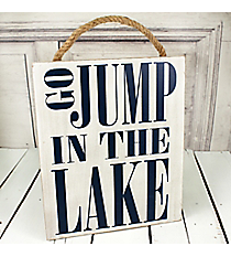 'Go Jump in the Lake' Hanging Decor #50501-JUMP