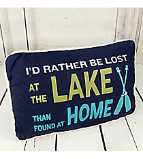 """I'd Rather Be Lost..."" Decorative Pillow #50507-LOST"