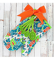 Multi-Color Damask Oven Mitt Kit #50595