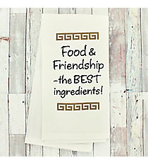 Food & Friendship Dish Towel #51752