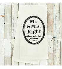 Mr. & Mrs. Right 1 Peter 1:22 Dish Towel #51837