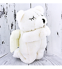 White Plush Prayer Bear #51899