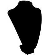 "14"" V-Neck Display Bust in Black #JW1010BK"