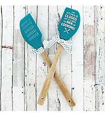 One 'Sick Of Cooking' Silicone Spatula #52766