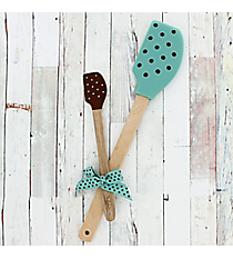 Aqua & Chocolate Polka Dot Kitchen Buddies #52858