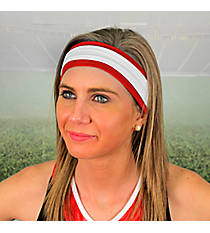 Crimson and White Pomchies Spirit Band-it Headband #5299