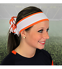 Fanta Orange and White Pomchies Spirit Band-it Headband #5302
