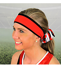 Black and Red Pomchies Spirit Band-it Headband #5305