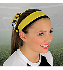 Black and Yellow Gold Pomchies Spirit Band-it Headband #5308