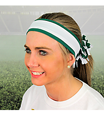 Green and White Pomchies Spirit Band-it Headband #5319