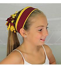 Yellow Gold and Burgundy Pomchies Spirit Band-it Headband #5342