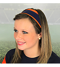 Orange and Navy Pomchies Spirit Band-it Headband #5384