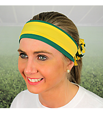 Green and Yellow Gold Pomchies Spirit Band-it Headband #5386