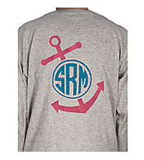Anchor Monogram Youth Long Sleeve Relaxed T-Shirt *Customizable!