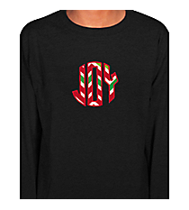 Joy Applique Youth Long Sleeve Relaxed T-Shirt *Customizable!