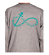 """Hope Anchors the Soul"" Youth Long Sleeve Relaxed T-Shirt INS04 *Choose Your Colors"