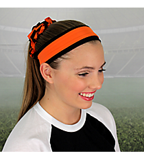 Orange and Black Pomchies Spirit Band-it Headband #5405