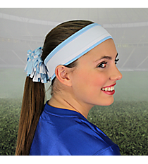Light Blue and White Pomchies Spirit Band-it Headband #5407