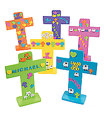 24 Easter Crosses with Stickers #57/2134