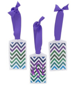 Multi Chevron Acrylic Luggage Tag #932