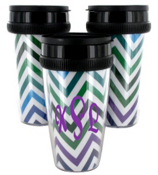 Multi Chevron Acrylic Travel Tumbler #573
