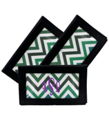Multi Chevron Black Checkbook Cover #7465B