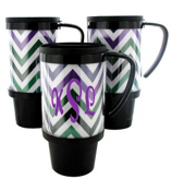 Multi Chevron Black Travel Tumbler #572