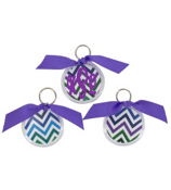 Multi Chevron Round Acrylic Key Tag #991