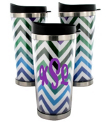 Multi Chevron Stainless Steel Travel Tumbler #579